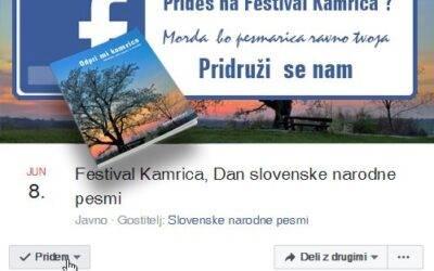 Prideš na Festival Kamrica ?