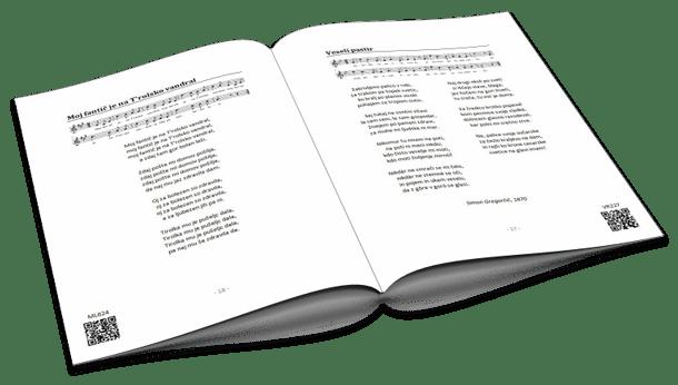 QR koda - Slovenske narodne pesmi